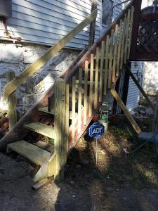 Christmas in October - Deck and Stairs
