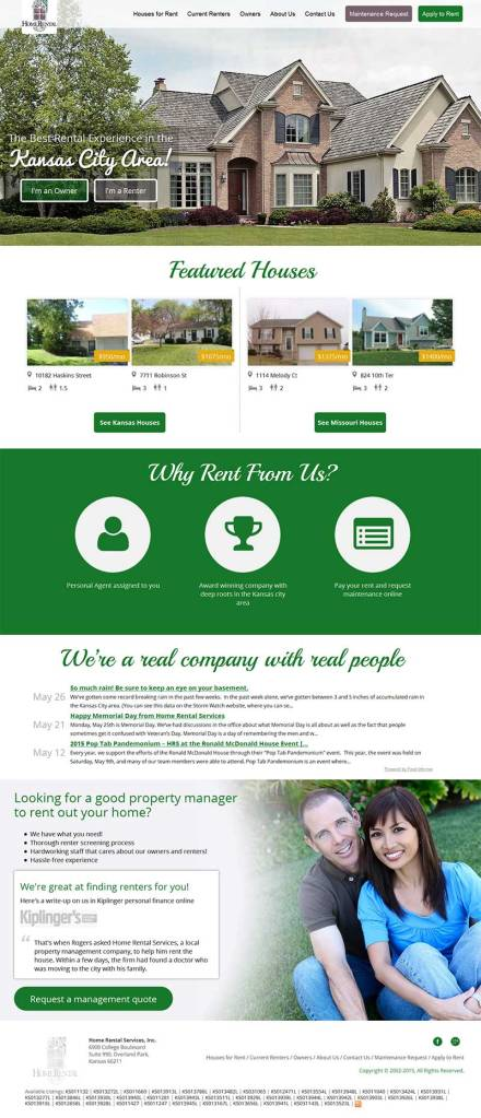Home Rental Services - New Website