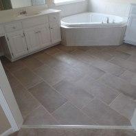 Olathe Master Bedroom Tile After
