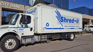 Shred-it Truck at Home Rental Services