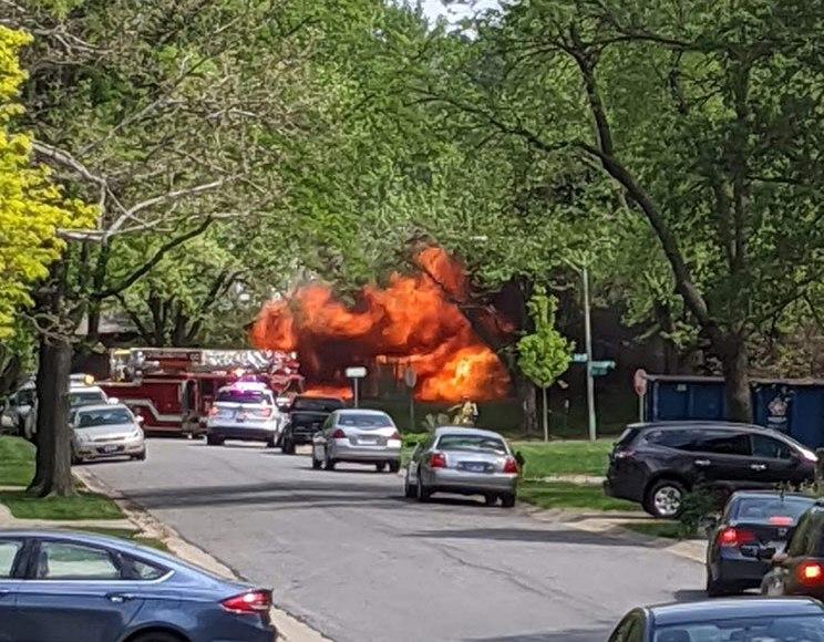 Duplex fire in Overland Park